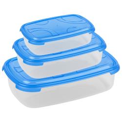 3-teilige rechteckige Frischhaltedose mit Deckel...