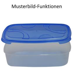 3-teilige rechteckige Frischhaltedose mit Deckel Vorratsdosen Behälter Aufbewahrungsbox Gelb