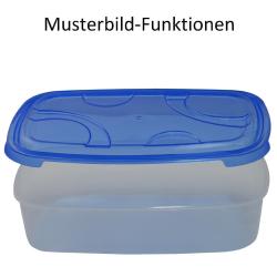 3x 3-teilige rechteckige Frischhaltedose mit Deckel Vorratsdosen Behälter Aufbewahrungsbox Gelb
