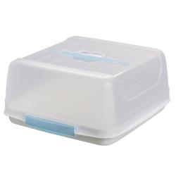 eckige Transport-Kuchenbox aus Kunststoff mit Tragegriff...