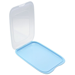 5x Stapelbare Aufschnittbox Frischhaltedose Wurst Behälter Aufschnittdose Hellblau