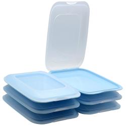 6x Stapelbare Aufschnittbox Frischhaltedose Wurst...
