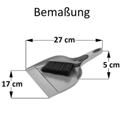 Kehrgarnitur Kehrschaufel Handfeger Kehrset aus Kunststoff