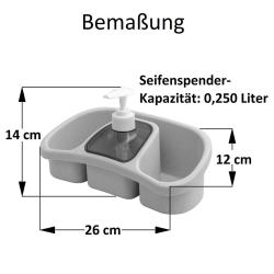 2x Mehrzweck Seifenspender für Flüssigkeit mit...