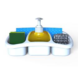 3x Mehrzweck Seifenspender für Flüssigkeit mit Pumpe aus Kunststoff 0,25L