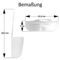 3x Badkorb mit Haken Badregal Duschregal Duschkorb Utensilo Aufbewahrungskorb