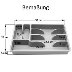 Besteckkasten Besteckkorb mit 6 Fächern Kunststoff BPA-frei