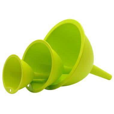 Trichtersatz Küchentrichter 3 Stück Kochtrichter Kunststoff in Farbe Grün