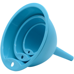 Trichtersatz Küchentrichter 3 Stück Kochtrichter Kunststoff in Farbe Blau