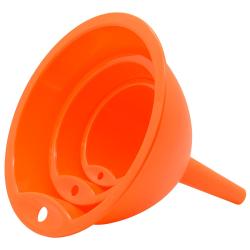Trichtersatz Küchentrichter 3 Stück Kochtrichter Kunststoff in Farbe Lachs