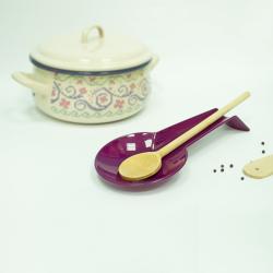 2x farbenfrohe Kochlöffelablage Schneebesenablage aus Kunststoff Löffelablage Küchen Utensilien Ablage für Küchenhelfer