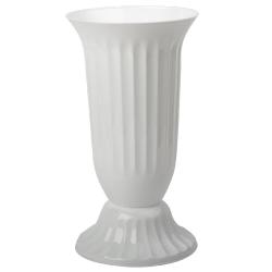 Außen Vase Garten Grab rund robuster Kunststoff mit...