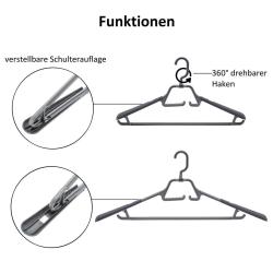 15 Kleiderbügel drehbarer klappbarer Haken Anti-Rutsch ausziehbare Auflage