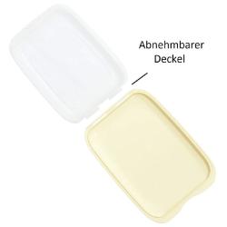 3er Set Schwarz Lachs Beige stapelbare Aufschnittbox Frischhaltedose Aufschnittdose