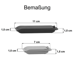 Tüten-Verschlussclips Klammerverschluss zufälliger 2er Farbmischung 10 Spangen