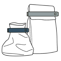 Tüten-Verschlussclips Klammerverschluss zufälliger 2er Farbmischung 20 Spangen