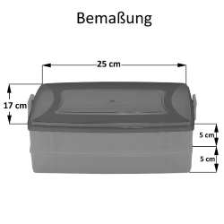 2x 2-teilige Frischhaltedose mit Deckel Behälter Aufbewahrungsbox 2 x 1,2L