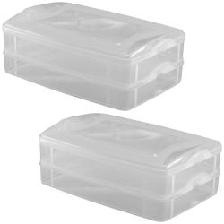 2x 2-teilige Frischhaltedose mit Deckel Behälter...