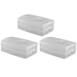 3x 2-teilige Frischhaltedose mit Deckel Behälter...