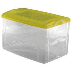 2-teilige Frischhaltedose mit Deckel Behälter Aufbewahrungsbox 2 x 2,2L