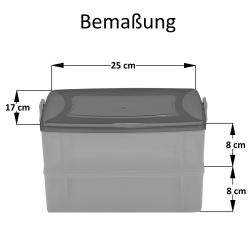 2x 2-teilige Frischhaltedose mit Deckel Behälter Aufbewahrungsbox 2 x 2,2L