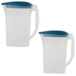 2x Saft Wasser Eistee Kanne Behälter...