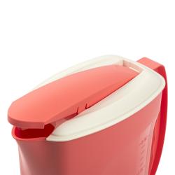 2x Saft Wasser Eistee Kanne Behälter Kühlschrankkrug Multifunktionsbox Deckel 2L
