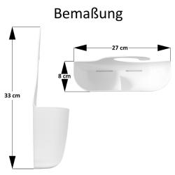 Badkorb mit Haken Badregal Duschregal Duschkorb Utensilo Bad Aufbewahrungskorb