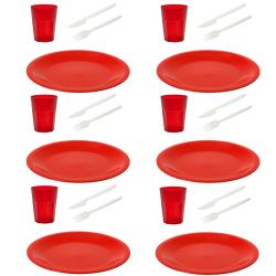 Picknick Set wiederverwendbare Essteller Trinkbecher...
