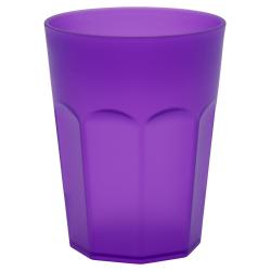 10x Kunststoffbecher Trinkbecher Party-Becher Plastik Trink-Gläser bruchsicher stapelbar Mehrweg 0,25l