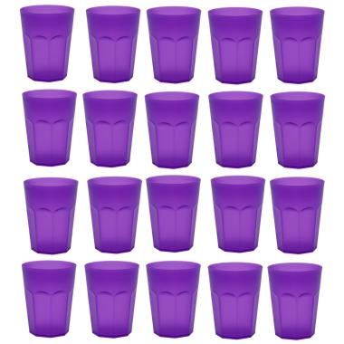 20x Kunststoffbecher Trinkbecher Party-Becher Plastik Trink-Gläser bruchsicher stapelbar Mehrweg 0,25l
