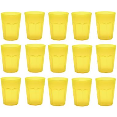 15x Kunststoffbecher Trinkbecher Party-Becher Plastik Trink-Gläser bruchsicher stapelbar Mehrweg 0,25l
