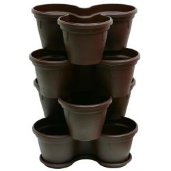 4x Blumentopf Säulentopf Pflanzturm Hochbeet mit...