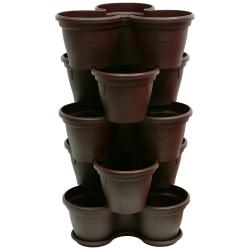 5x Blumentopf Säulentopf Pflanzturm Hochbeet mit...