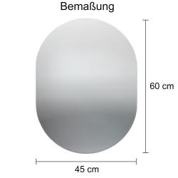 Badspiegel / Flurspiegel / Garderobenspiegel - ca. 60x45cm - oval