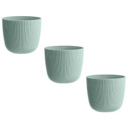 3x mintgrün Engelland moderner Blumentopf mit...