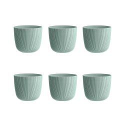 6x mintgrün Engelland moderner Blumentopf mit...