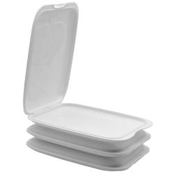 3x Stapelbare Aufschnitt-Box mit Motiv Farbmix Hochwertig...