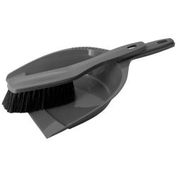 1x Kehrgarnitur Kehrschaufel Handfeger Kehrwisch Kehrset Haushalt Fußboden Küche Reinigung aus Kunststoff grau