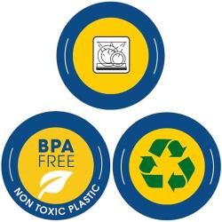 3er Vorrats-dose mit Deckel Set Frischhalte-dose Aufbewahrungs-dose Müsli-Dose Gewürz-dose Aufbewahrung rund Kunststoff BPA-frei braun
