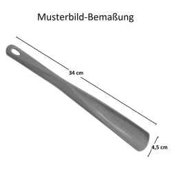 1x Schuhlöffel Schuhanzieher aus Kunststoff mit Öse 34 cm lang Farbe Braun