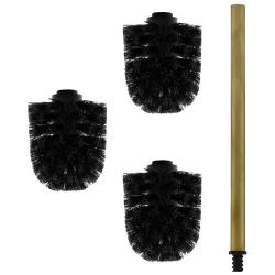 3x Ersatz-Bürstenkopf schwarz + 1x Griff 26 cm...