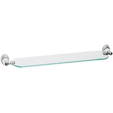 Glasablage / Badablage / Ablage mit Glasplatte - verchromter Messing + Glas